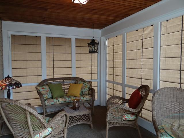 Exterior Screen Porch Shades Transitional Veranda Part 24