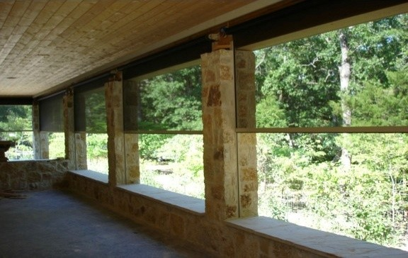 Exterior screen shades traditional porch dallas by for Screen porch window treatments