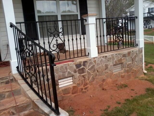 how to fix outdoor metal railing