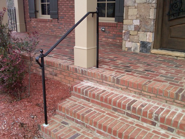 Exterior Wrought Iron Handrail Railing Mediterranean Porch