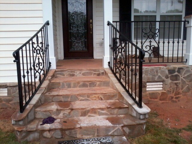 Exterior Wrought Iron Handrail / Railing - Mediterranean - Porch ...