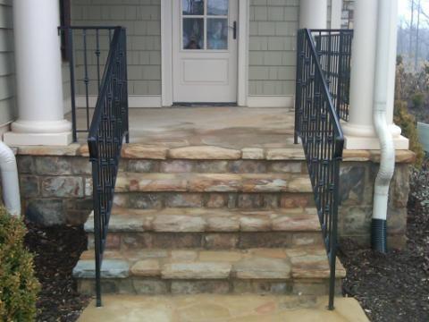exterior wrought iron handrail railing