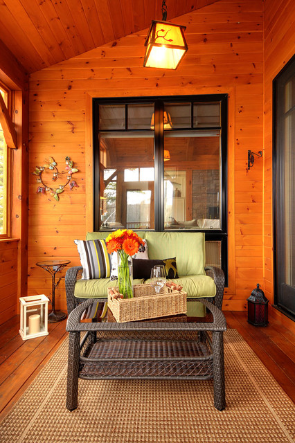Fairy Lake Home rustic-porch
