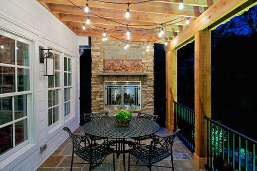 fairy lighting in porch