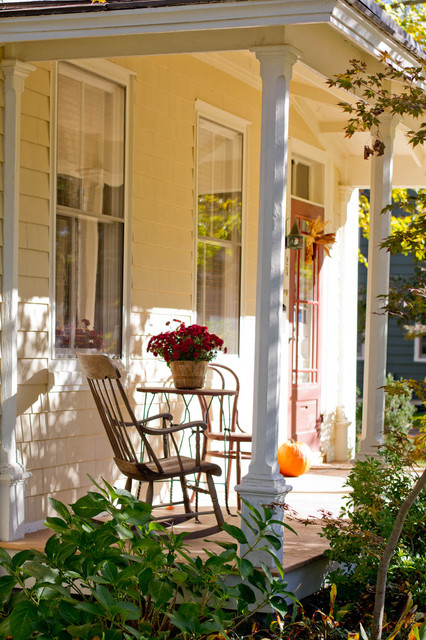 This is an example of a traditional front porch design in New York.