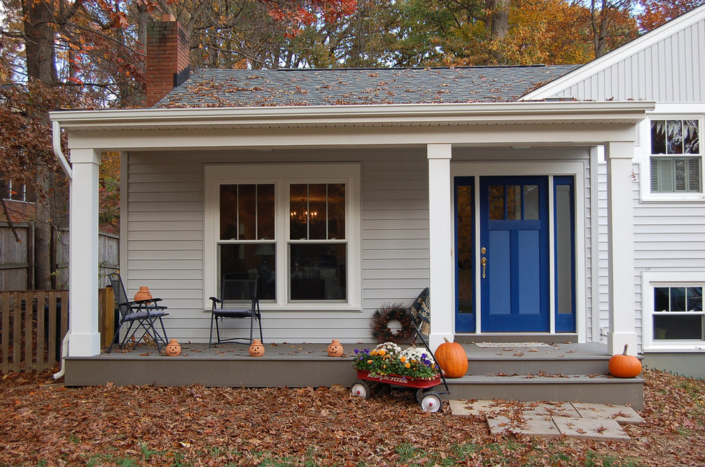 This is an example of a traditional front porch design in DC Metro.