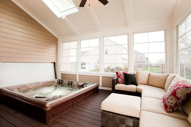 Fantina lane 3 season porch traditional porch for Three season room plans