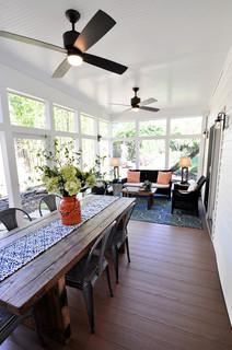 Screen Porch Get Away Farmhouse Dc Metro By Arlington Home Interiors