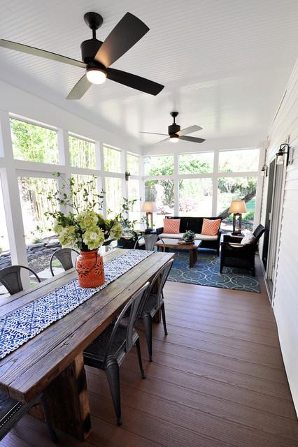 Screened Porch Interior : Screened porch get away contemporary dc metro