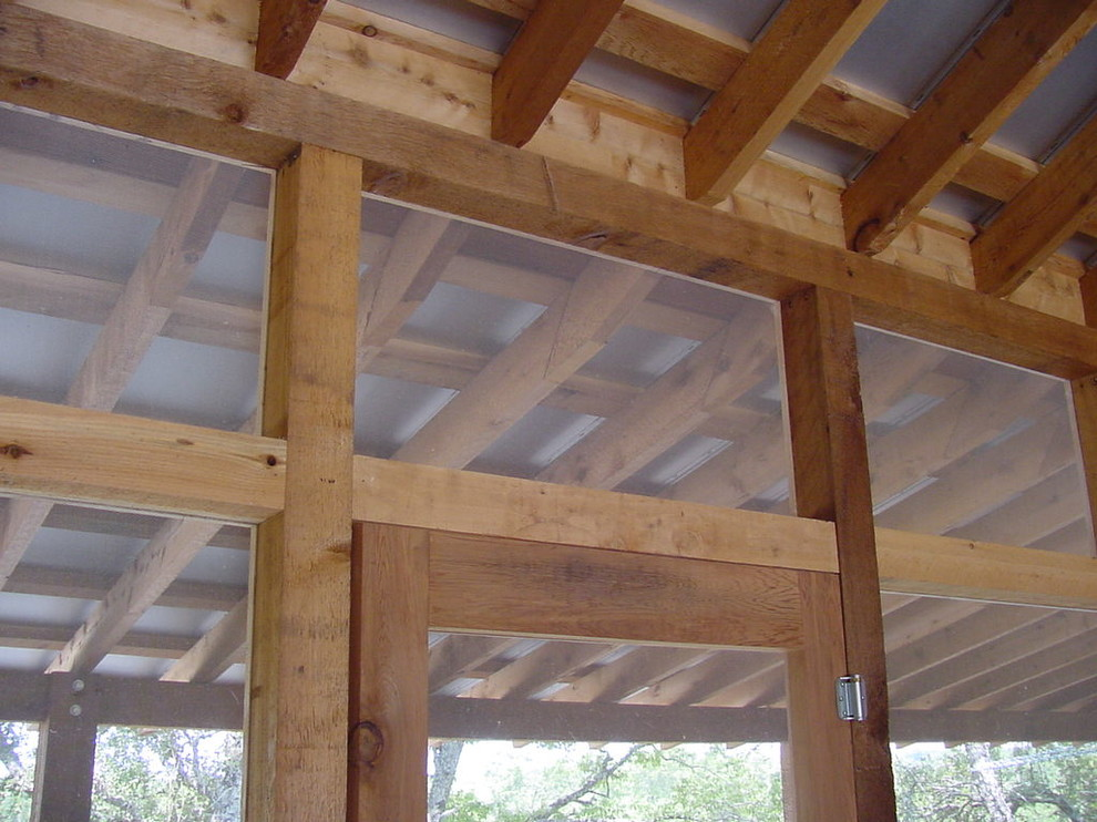 Inspiration for a rustic porch remodel in Austin
