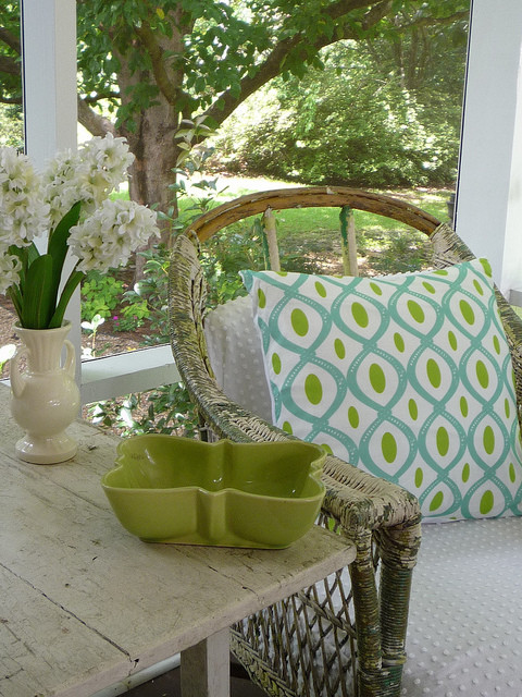 Inspiration for a shabby-chic style porch remodel in Other