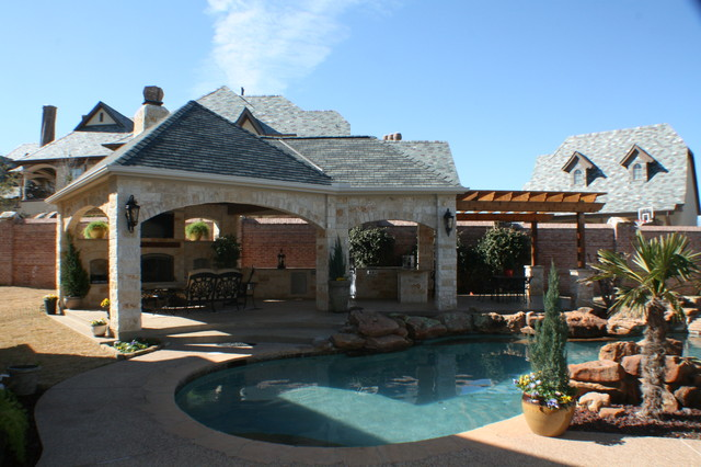 Fort Worth Covered Patio with Pergola Outdoor Kitchen and ... on Outdoor Kitchen With Covered Patio id=44936
