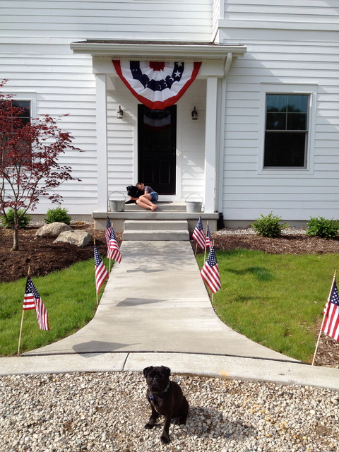 Hang The American Flag On A House
