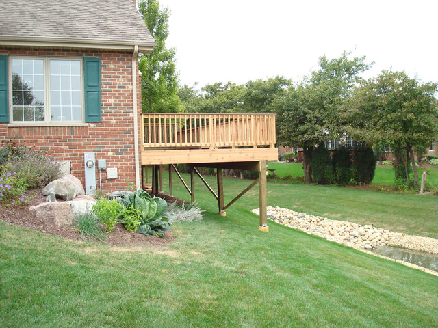 Frankfort Deck Addition traditional-porch