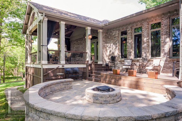 deck patio with fire pit. Brilliant Pit Franklin TN Open Porch Deck Water Feature Patio And Fire Pit Traditional On Deck Patio With Fire Pit