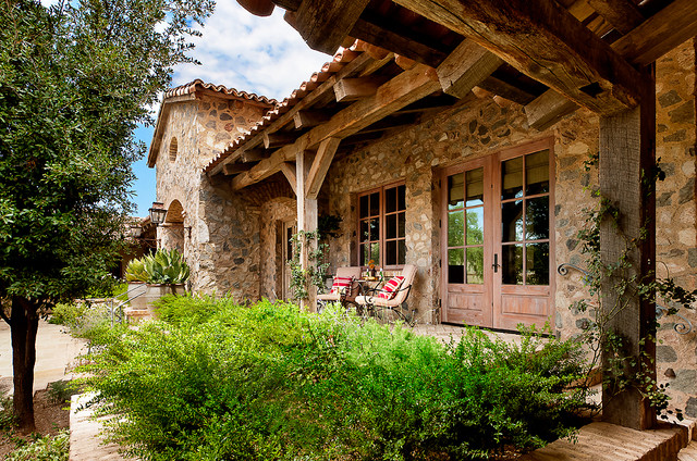 French Country Estate Mediterranean Porch Phoenix By Higgins Architects