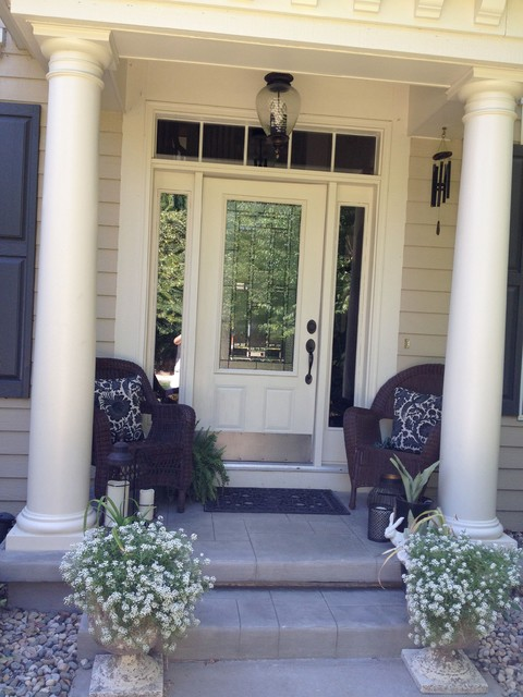 Front Entrance- after traditional-porch