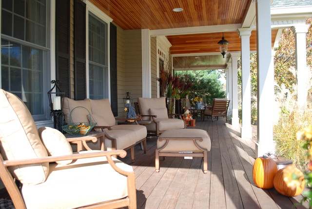 Front Exterior Makeover with Porch traditional-porch