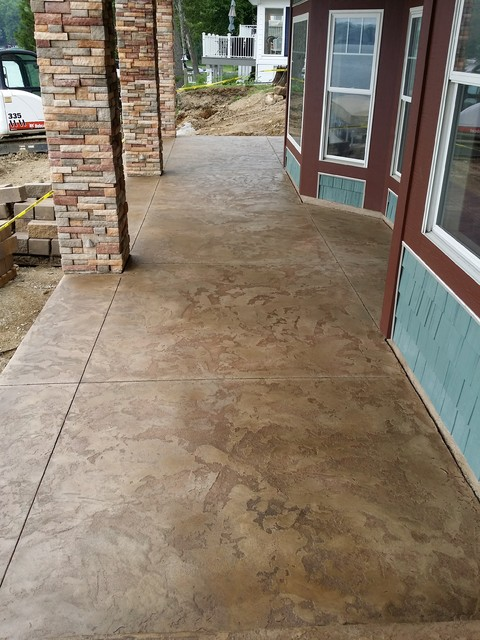 Front Porch Concrete Overlay Rustic Porch Other By