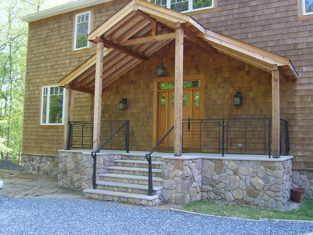 Front porch contemporary railings contemporary porch for Contemporary front porch