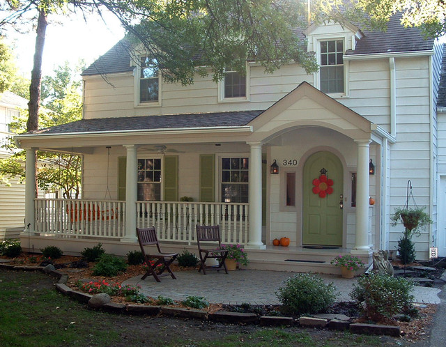 elegant front porch photo in other - Front Porch Design Ideas