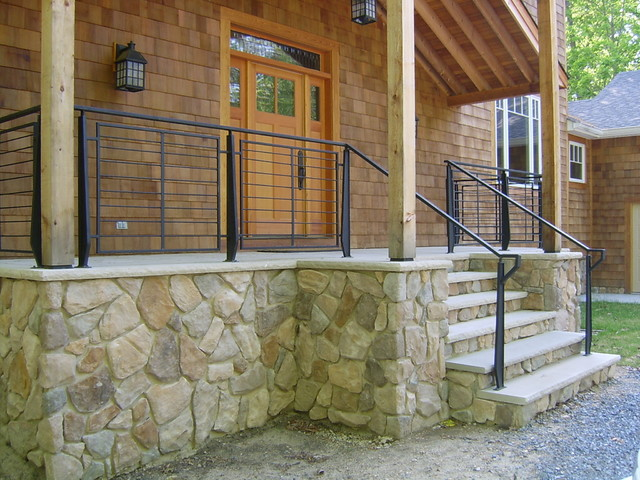 Front Porch Railings Contemporary Verandah