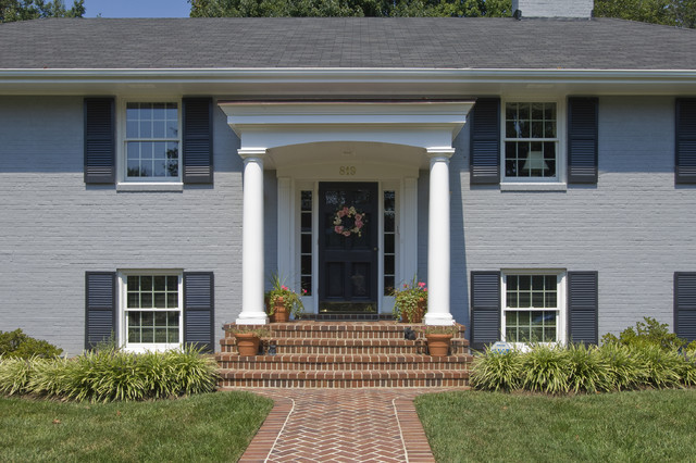 Front porches and porticos traditional porch dc for Traditional porch