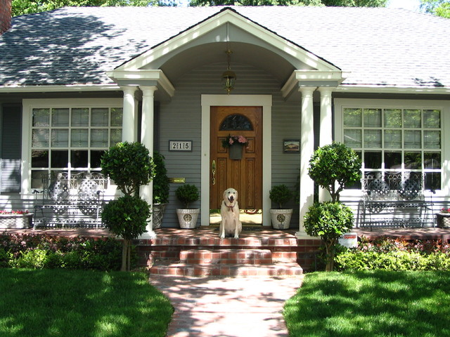 Front Portico traditional porch