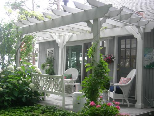 Wooden Garden Traditional Pergola Structure