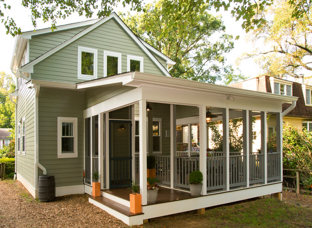 Garrett park cape cod screened porch traditional porch for Traditional porch