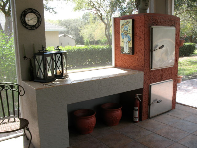 Gas Fired Pizza Oven traditional-porch
