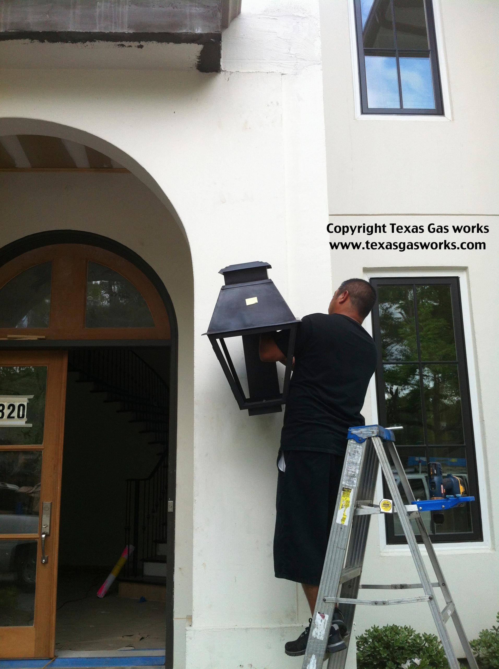 Gas Lantern Installations