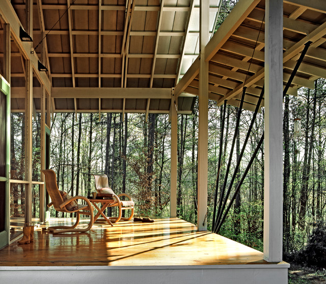 Gillsville House Contemporary Porch Atlanta By