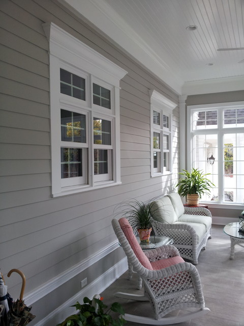 Inspiration for an eclectic porch remodel in St Louis