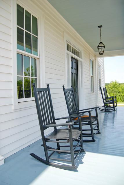 Greek Revival Farm House farmhouse-porch