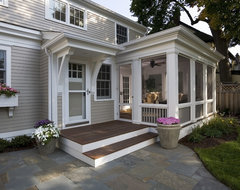 Greek Revival Remodel - Screened Porch traditional-porch