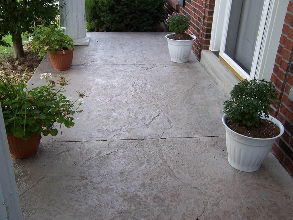 Green Park, Missouri stamped concrete front porch