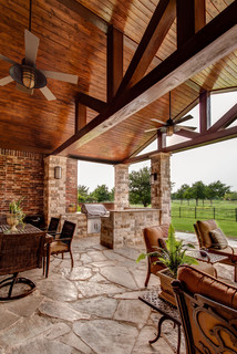 Griller's Paradise - Traditional - Porch - Dallas - by 708 Studios, LLC
