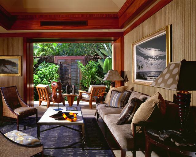 Guest House Living Room Tropical Veranda