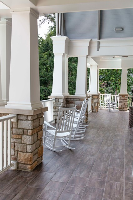 Hamptons Clubhouse - Traditional - Porch - raleigh - by Design Works ...