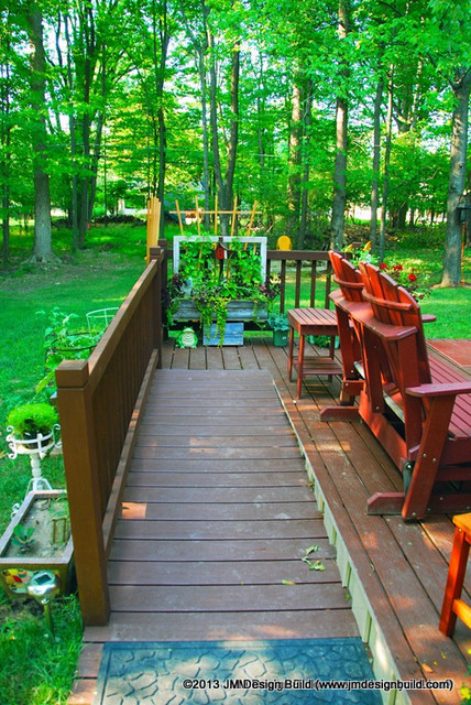 Handicap Accessible Deck With Ramp Contemporary Porch