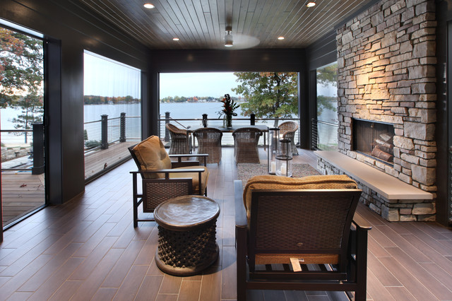 Hasserton Transitional Prairie Style Lakefront Contemporary Porch Grand Rapids By