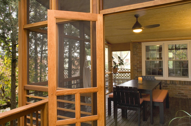 Hermitage Screened Porch Rustic Porch Cincinnati