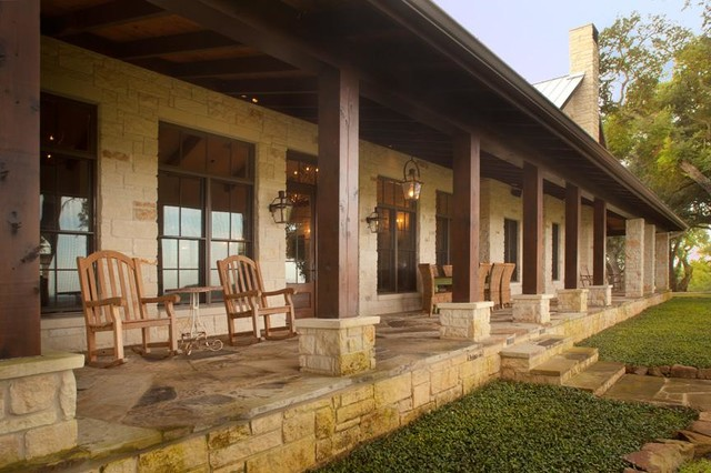 Hill Country Charmer Traditional Porch Houston By