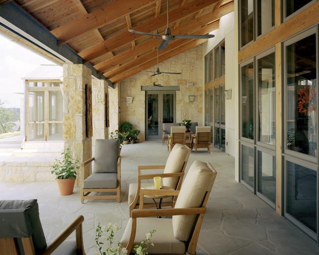 Hillside Residence Front Porch Mediterranean Porch