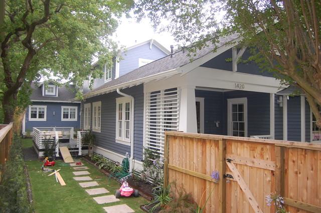 Historic Heights Bungalow Renovation Addition Craftsman Porch