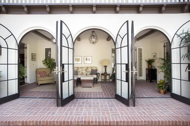 Historic Roland E. Coate eclectic-porch