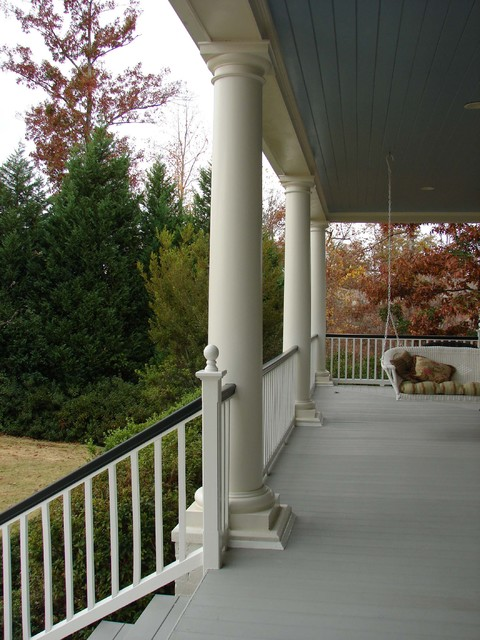 Home on Lake Tuscaloosa traditional porch