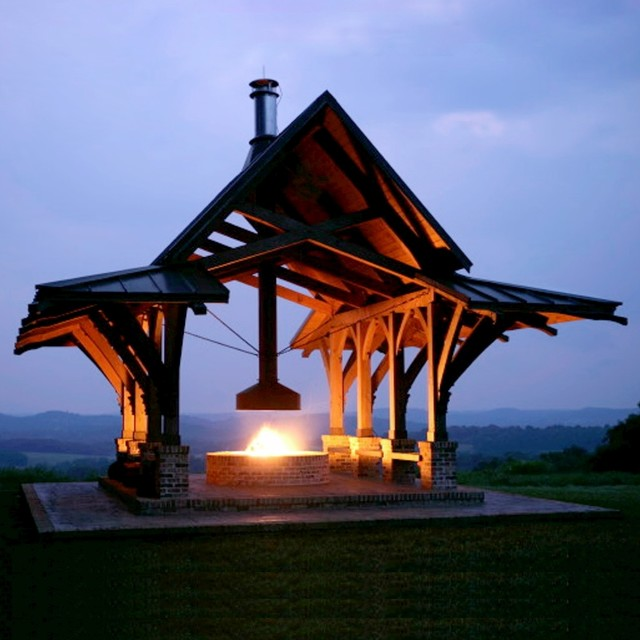 Fire Pit Hood Chimney ~ Horse farm