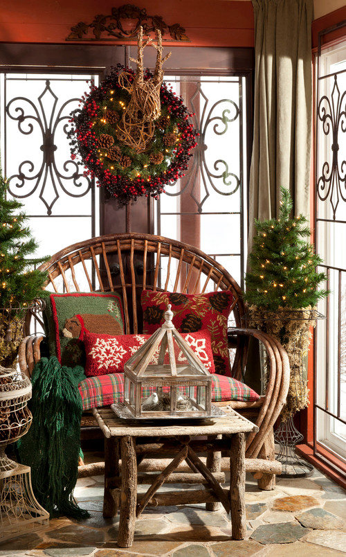 rustic porch Make Your Home Cozy for Christmas